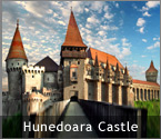 'Romania's Castles and Fortresses - Hunedoara Castle, also known as Huniade, Huniazilor or Corvinesti Castle' from the web at 'http://RomaniaTourism.com/images/splash-castles-hunedoara.jpg'