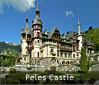 'Romania's Castles and Fortresses - Peles Castle in Sinaia - near Brasov, Romania' from the web at 'http://RomaniaTourism.com/images/splash-castles-peles.jpg'