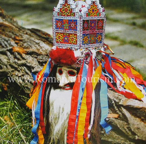 romanian folk art   folk mask