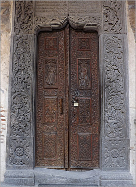 Stavropoleos Curch Door in Bucharest, Romania - Art and Architecture