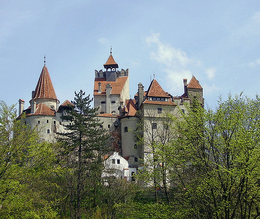 Sitting atop a 200-foot-high rock Bran Castle is the epitome of the story of Dracula.