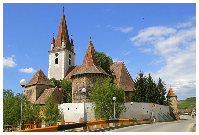 Cristian Fortified Church Transylvania Romania
