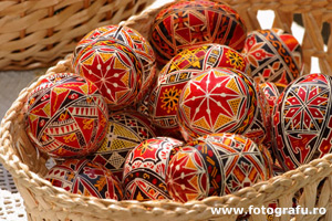 Romanian traditional painted eggs