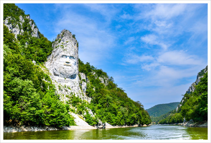 Danube River Decebal Carved Statue