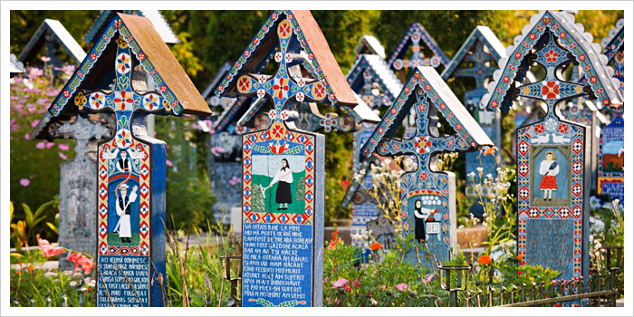 Sapanta - The Merry Cemetery. Maramures, Northern Romania