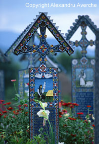 'Sapanta - Merry Cemetery' from the web at 'http://romaniatourism.com/images/maramures/sapanta-merry-cemetery.jpg'