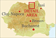 Bucovina, Northern Romania - Detail map
