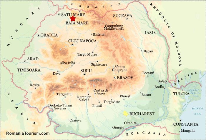 Baia Mare Romania Baia Mare City Map Harta Orasului Baia Mare