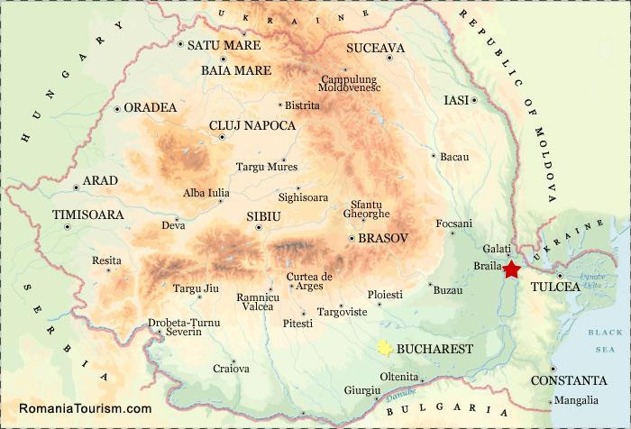 Braila Romania Braila City Map Harta Orasului Braila