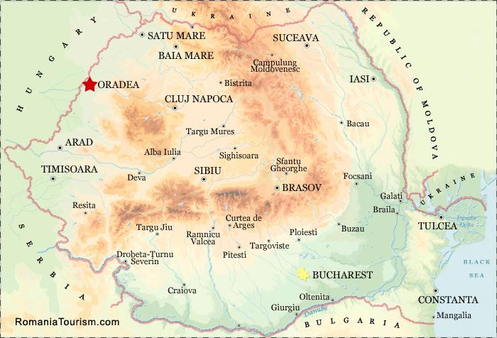 Oradea Romania Oradea City Map Harta Orasului Oradea