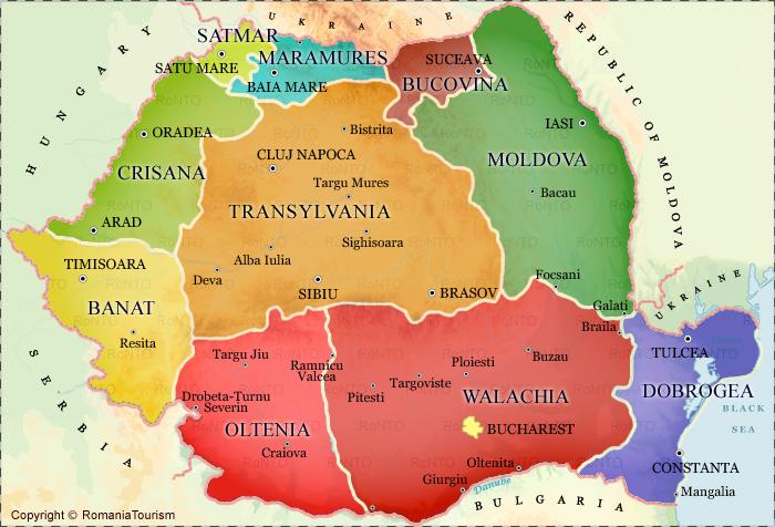 Map Of Transylvania TRANSYLVANIA, Romania   Travel and Tourism Information Map Of Transylvania