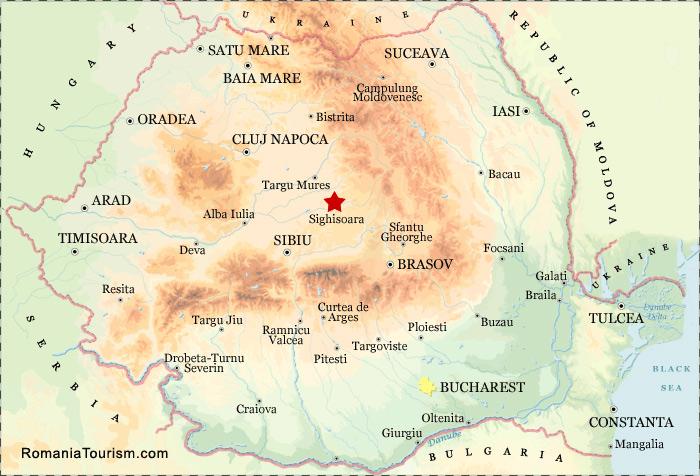 Sighisoara Romania Sighisoara City Map Harta Orasului Sighisoara