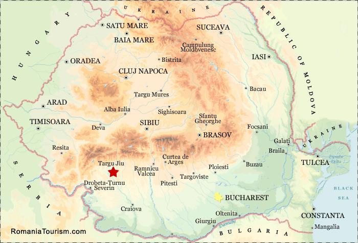 Targu Jiu Romania Targu Jiu City Map Harta Orasului Targu Jiu